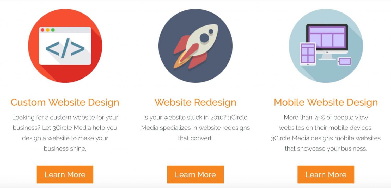 homepage key elements